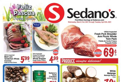 Sedano's (FL) Weekly Ad Flyer March 31 to April 6