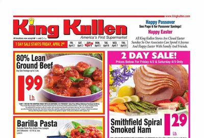 King Kullen Weekly Ad Flyer April 2 to April 8