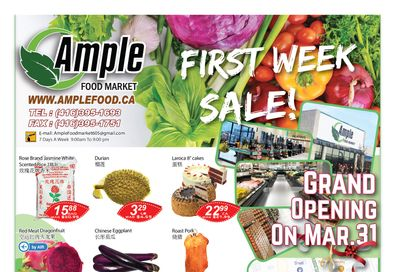 Ample Food Market (North York) Flyer April 2 to 8