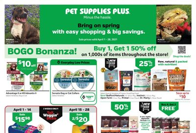 Pet Supplies Plus Weekly Ad Flyer April 1 to April 28