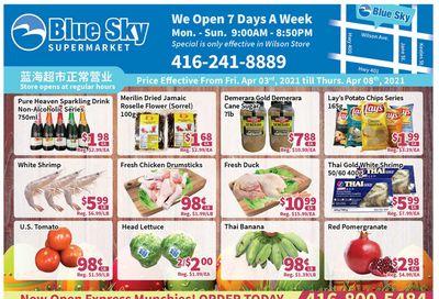 Blue Sky Supermarket (North York) Flyer April 3 to 8