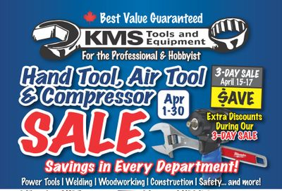 KMS Tools and Equipment Flyer April 1 to 30