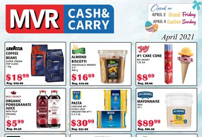 MVR Cash and Carry Flyer April 1 to 30
