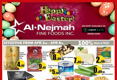 Alnejmah Fine Foods Inc. Flyer April 2 to 8