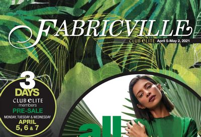 Fabricville Flyer April 5 to May 2