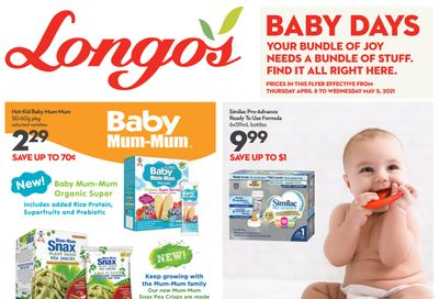 Longo's Baby Days Flyer April 8 to May 5