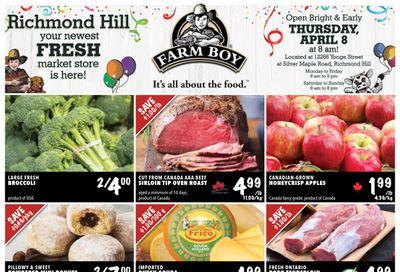 Farm Boy (Richmond Hill and Newmarket) Flyer April 8 to 14