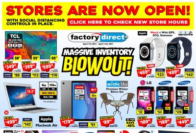 Factory Direct Flyer April 7 to 14