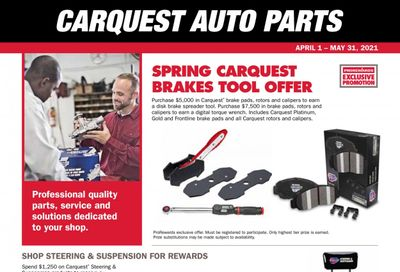 Carquest Weekly Ad Flyer April 1 to May 31