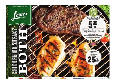 Lowes Foods Weekly Ad Flyer April 7 to April 13