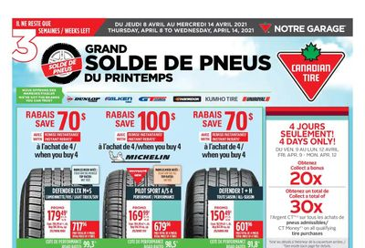 Canadian Tire (QC) Flyer April 8 to 14