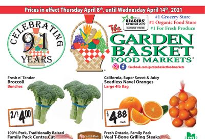 The Garden Basket Flyer April 8 to 14