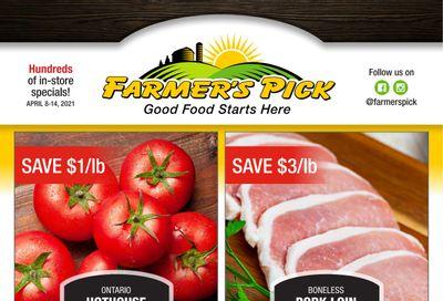 Farmer's Pick Flyer April 8 to 14