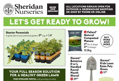 Sheridan Nurseries Flyer April 8 to 28
