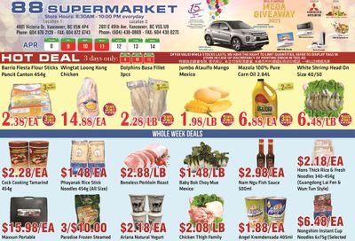 88 Supermarket Flyer April 8 to 14