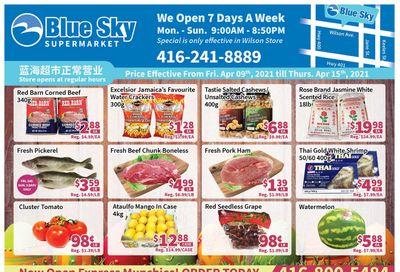 Blue Sky Supermarket (North York) Flyer April 9 to 15