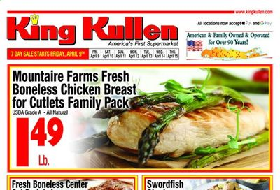 King Kullen Weekly Ad Flyer April 9 to April 15