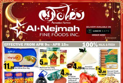 Alnejmah Fine Foods Inc. Flyer April 9 to 15