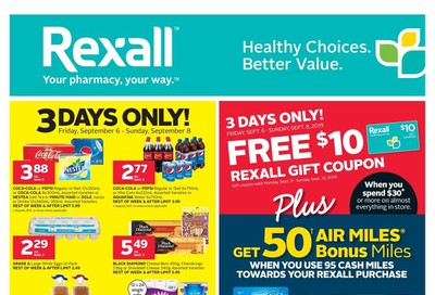 Rexall (West) Flyer September 6 to 12