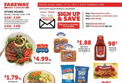 Fareway (IA, IL, MN, MO, NE, SD) Weekly Ad Flyer April 13 to April 19