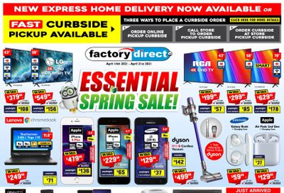 Factory Direct Flyer April 14 to 21