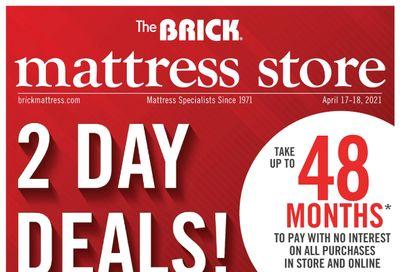 The Brick Mattress Store Flyer April 13 to 28