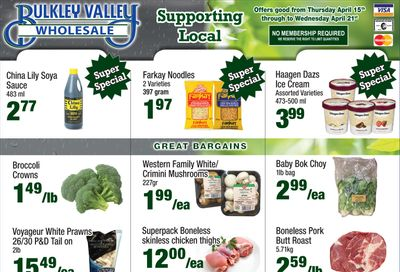 Bulkley Valley Wholesale Flyer April 15 to 21