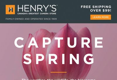 Henry's Flyer April 16 to 29