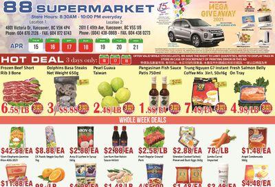 88 Supermarket Flyer April 15 to 21