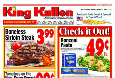 King Kullen Weekly Ad Flyer April 16 to April 22