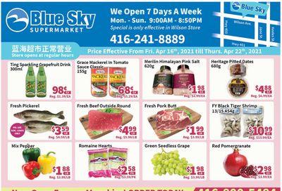 Blue Sky Supermarket (North York) Flyer April 16 to 22