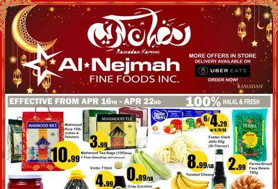 Alnejmah Fine Foods Inc. Flyer April 16 to 22