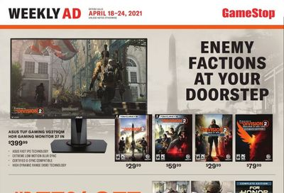 GameStop Weekly Ad Flyer April 18 to April 24