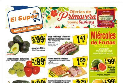 El Super (AZ, CA, NM, NV, TX) Weekly Ad Flyer April 21 to April 27