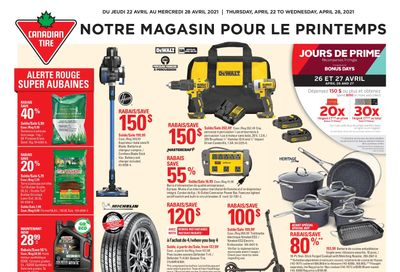 Canadian Tire (QC) Flyer April 22 to 28