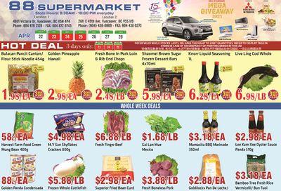 88 Supermarket Flyer April 22 to 28