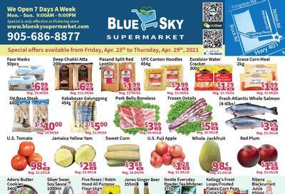 Blue Sky Supermarket (Pickering) Flyer April 23 to 29