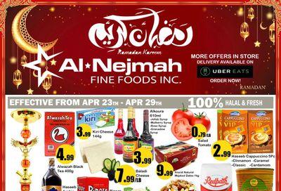 Alnejmah Fine Foods Inc. Flyer April 23 to 29