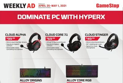 GameStop Weekly Ad Flyer April 25 to May 1