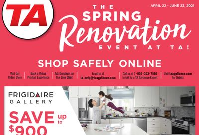TA Appliances & Barbecues Flyer April 22 to June 23