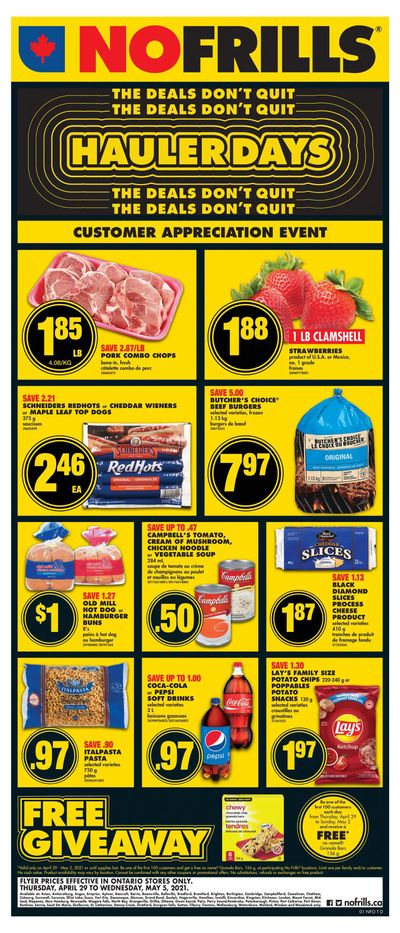 No Frills (ON) Flyer April 29 to May 5