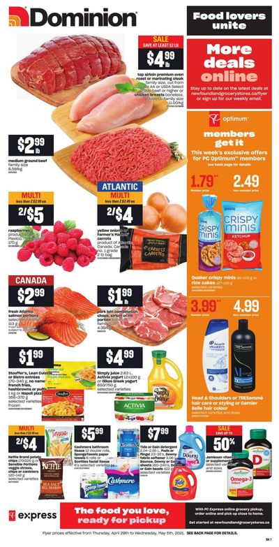 Dominion Flyer April 29 to May 5