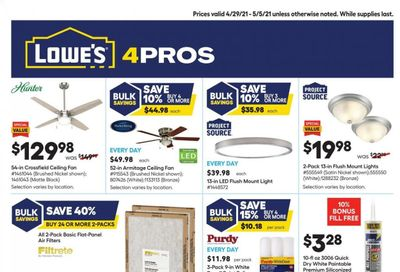 Lowe's Weekly Ad Flyer April 29 to May 5