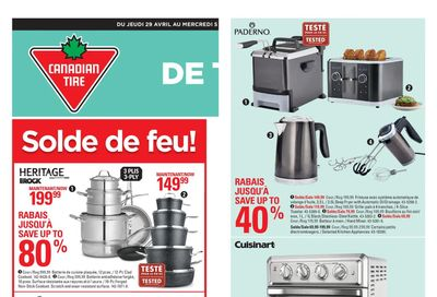 Canadian Tire (QC) Flyer April 29 to May 5