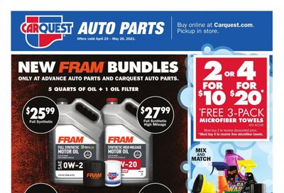 Advance Auto Parts Weekly Ad Flyer April 29 to May 26