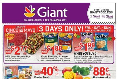 Giant Food Weekly Ad Flyer April 30 to May 6