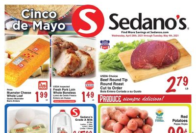Sedano's (FL) Weekly Ad Flyer April 28 to May 4