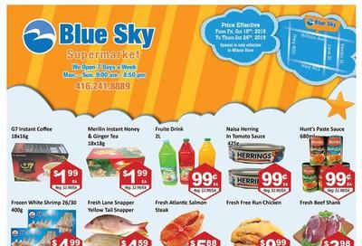 Blue Sky Supermarket (North York) Flyer October 18 to 24
