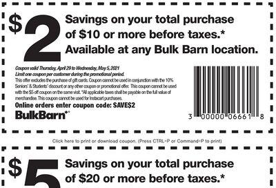 Bulk Barn Canada Coupon: Valid until May 5