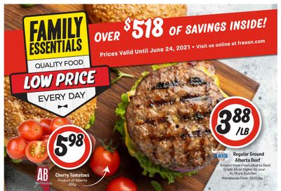 Freson Bros. Family Essentials Flyer April 30 to June 24